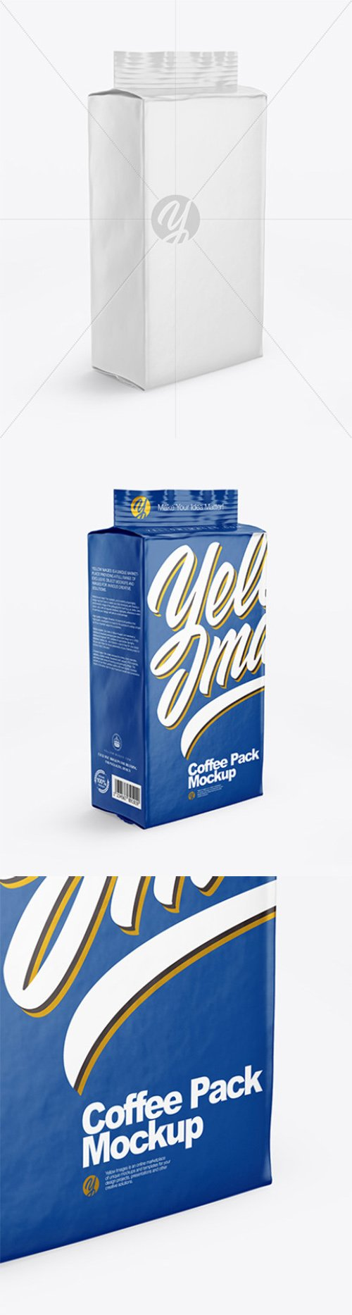 Glossy Coffee Pack Mockup 64918 TIF