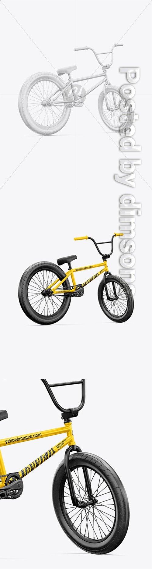BMX Bicycle Mockup - Back Half Side View 65085 TIF