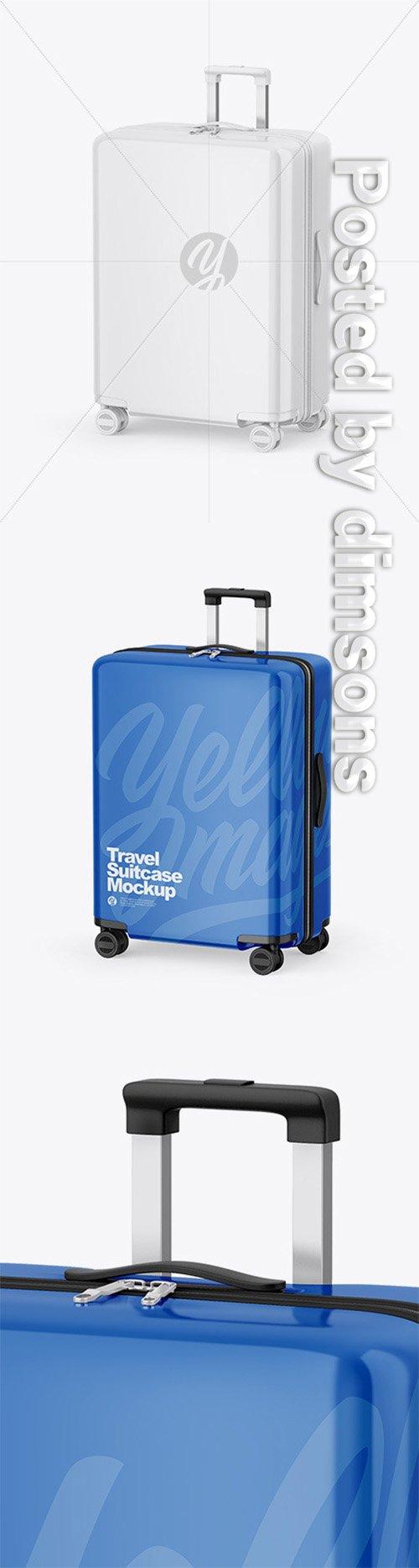 Glossy Travel Suitcase Mockup 65014 TIF
