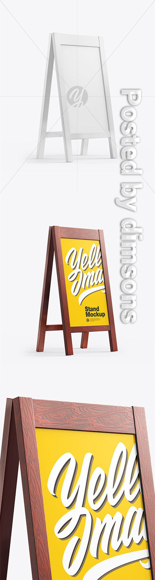 Wooden Street Stand Mockup 65022 TIF