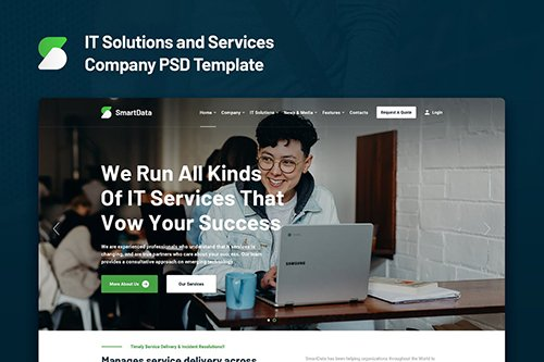 Smartdata - IT Solutions and Services PSD Template