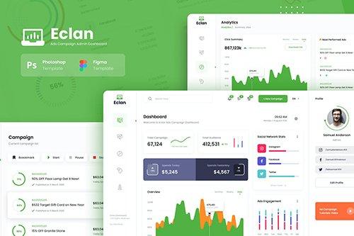 Eclan Ads Campaign Admin Dashboard UI Template