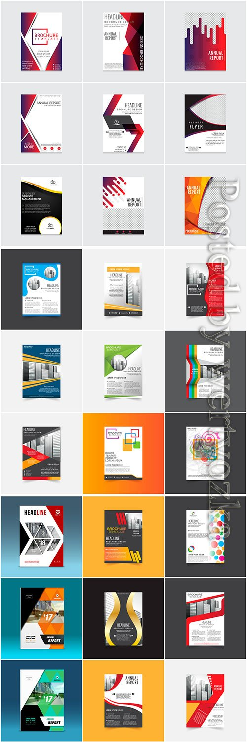 Brochures collection in vector, business name for company # 2