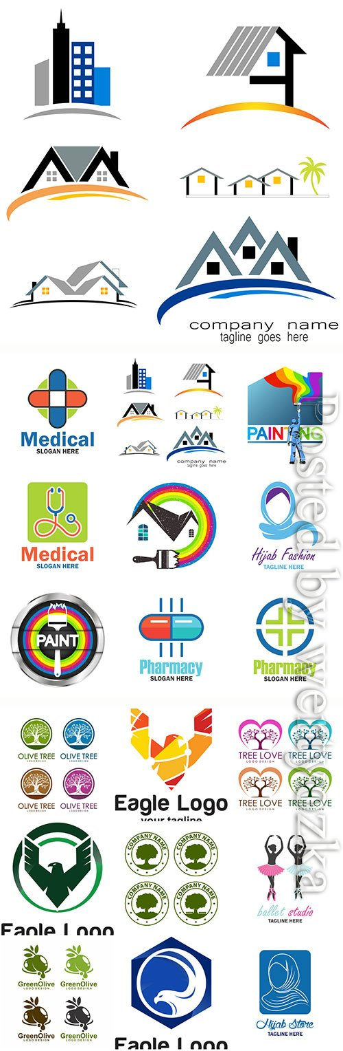 Logos collection in vector, business name for company # 2