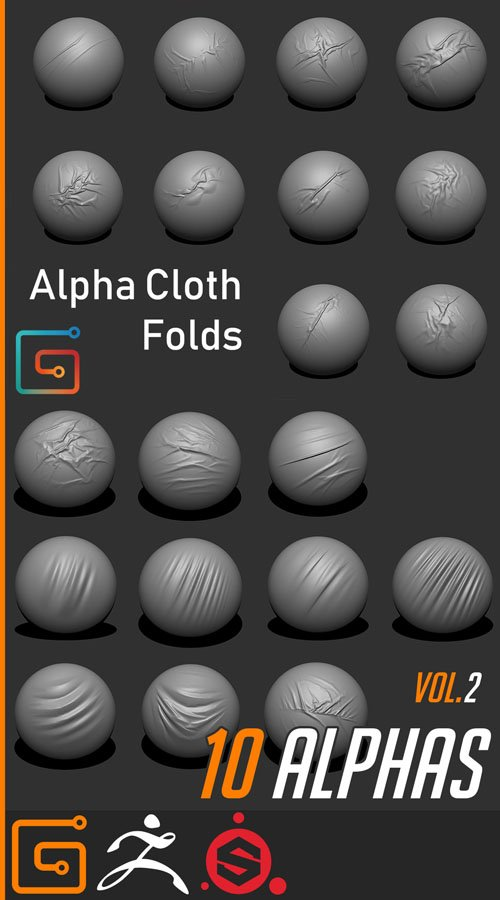 20 Alpha Cloth Folds - Vol.1 & Vol.2