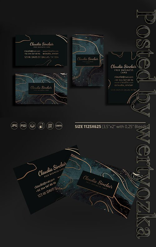 Luxury business card templates