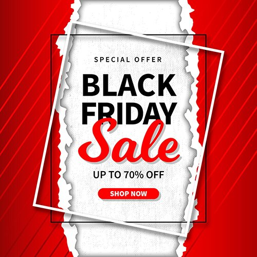 Black Friday Sale Paper Style