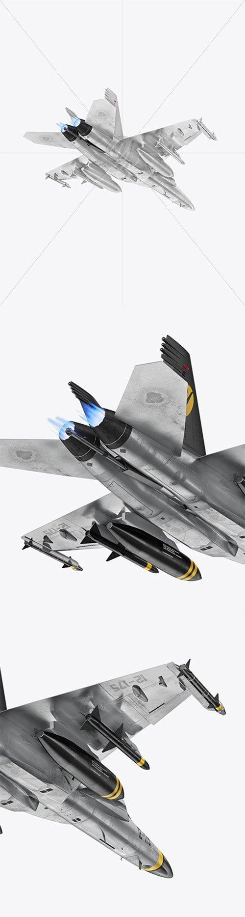 Combat Fighter - Back Half Side View (Hero Shot) 65125