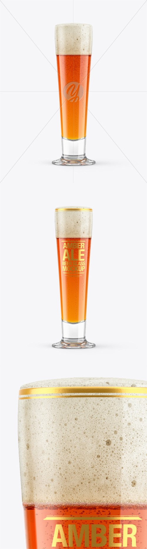 Amber Ale Beer Glass Mockup 65174
