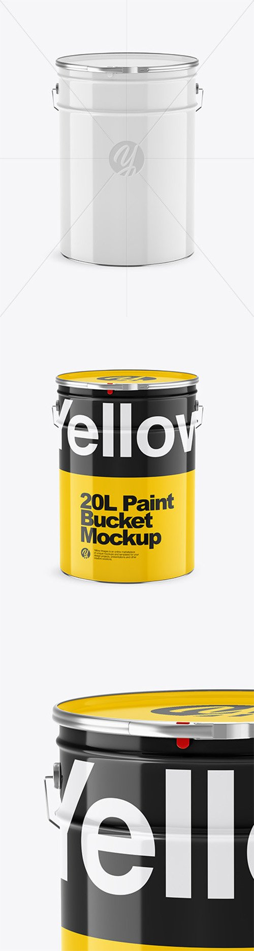 20L Glossy Paint Bucket Mockup 65166