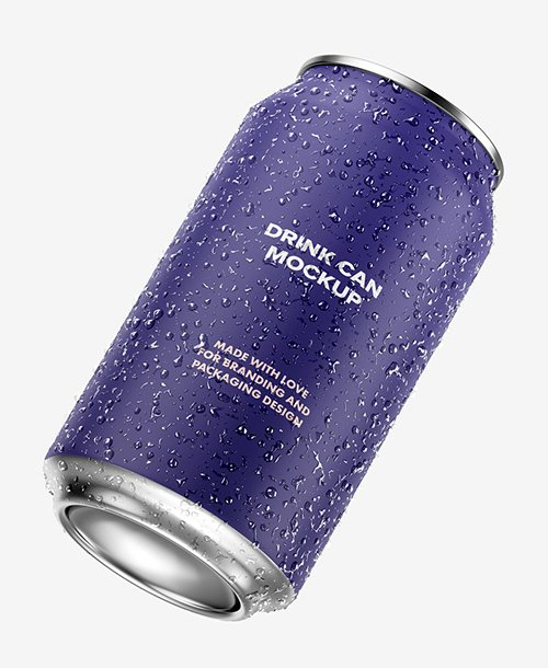 Isolated Aluminum Drink Can Mockup 327022542