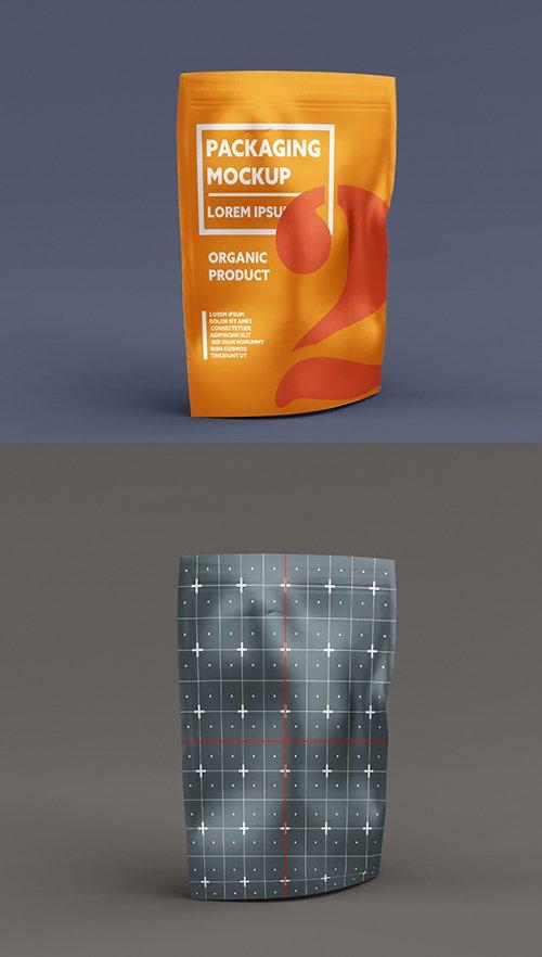 Metallic Stand-Up Bag Mockup 328596704