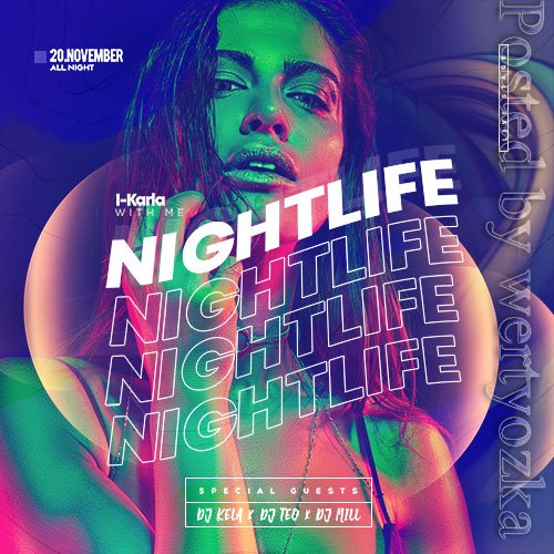 City Nights Event Flyer PSD Template