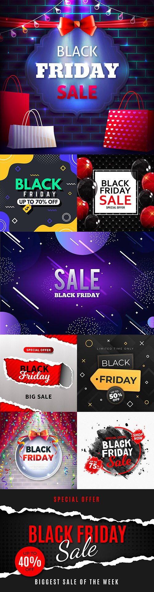 Black Friday and sale special design illustration 31