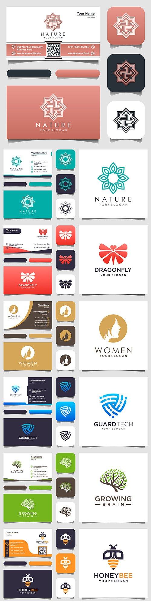 Minimalist elegant logo and business card design 10