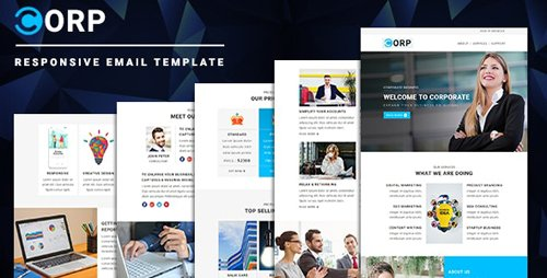 ThemeForest - Corp v1.0 - Responsive Email Template with Online StampReady & Mailchimp Editors - 23320225