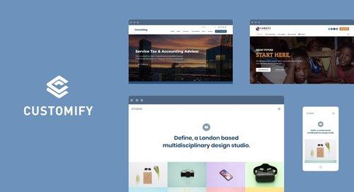 Customify v0.3.5 - WordPress Theme + Customify Pro Addon v0.1.2