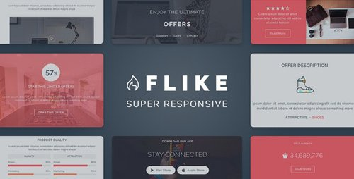 ThemeForest - Flike v1.0 - Responsive Newsletter Email Template - 28538294