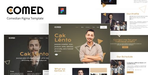 ThemeForest - Comed v1.0 - Comedian Figma Template - 28496722