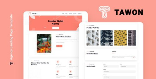 ThemeForest - Tawon v1.0 - Agency Landing Page Template - 28541554