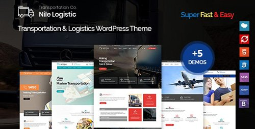 ThemeForest - Nile v1.0.0 - Transportation and Logistics WordPress Theme - 22577948