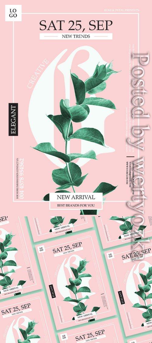 Green Flyer Psd Design Template
