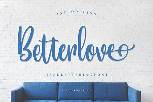 Betterlove | Handlettering Font