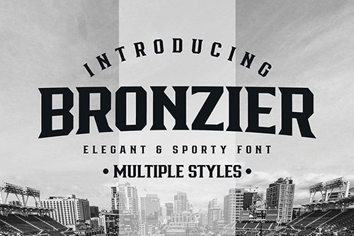 Bronzier - Font Family