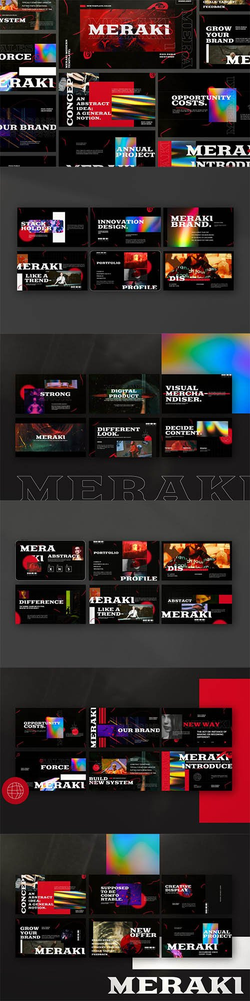 Meraki - Urban Creative Agency Powerpoint, Keynote and Google Slides
