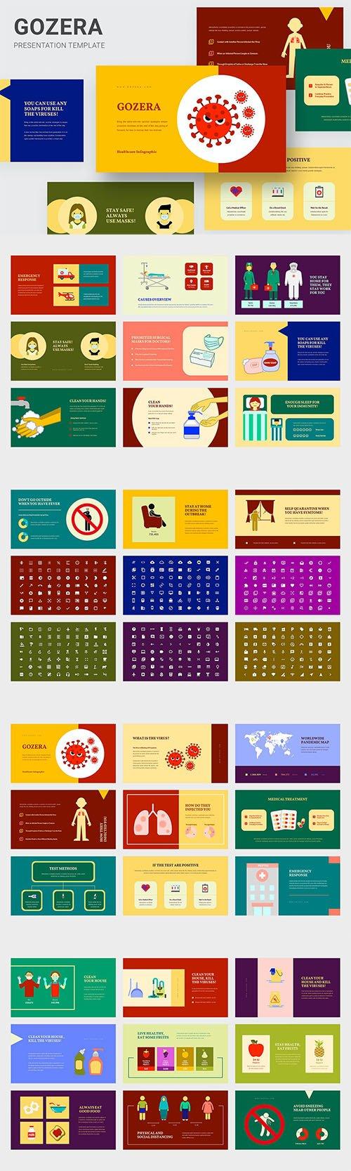 Gozera - Healthcare Infographic Powerpoint, Keynote and Google Slides