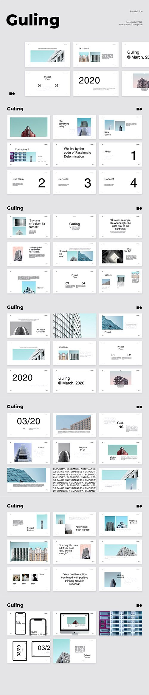 Guling - Powerpoint, Keynote and Google Slides