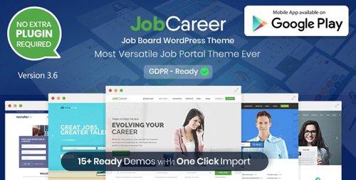 ThemeForest - JobCareer v3.6 - Job Board Responsive WordPress Theme - 14221636 - NULLED