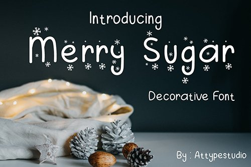 Merry Sugar - Display Font