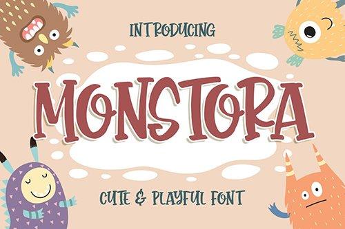 Monstora Cute & Playful Font