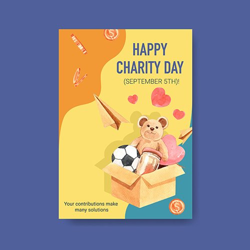 Poster Template with International Day Charity Concept