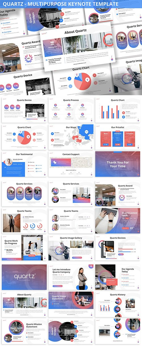 Quartz - Multipurpose Keynote Template