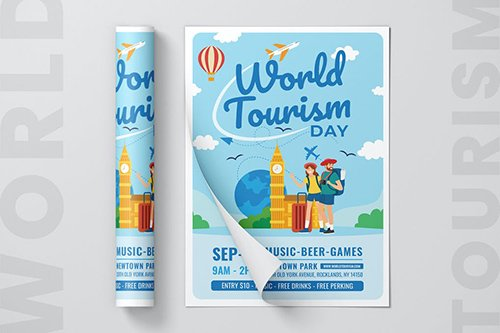World Tourism Day Flyer Template