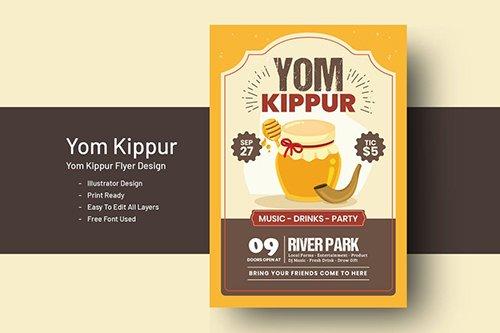 Yom Kippur Flyer Template
