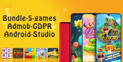 CodeCanyon - Bundle#1 , 5 Games (Admob + GDPR + Android Studio) v1.0 - 28452840