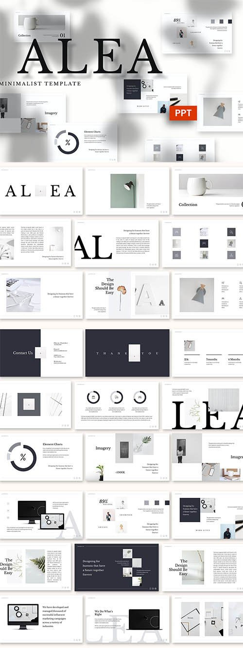 Alea - Minimalist Powerpoint, Keynote and Google Slides