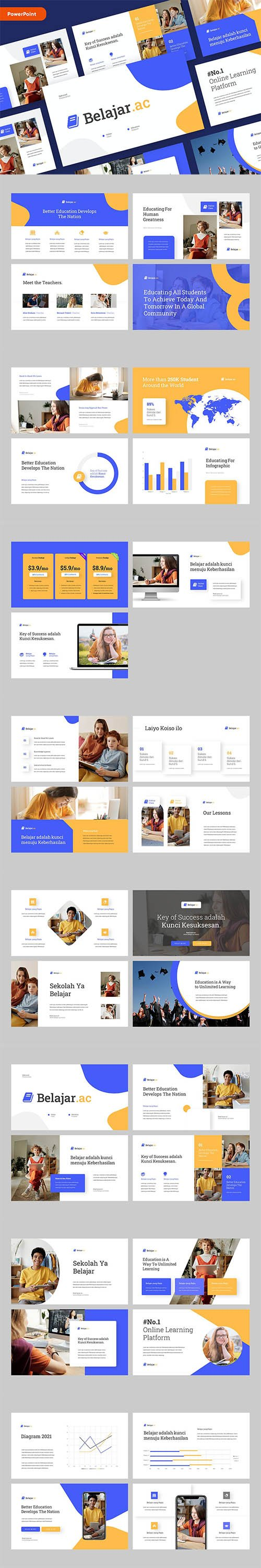 BELAJAR - Education Powerpoint Template