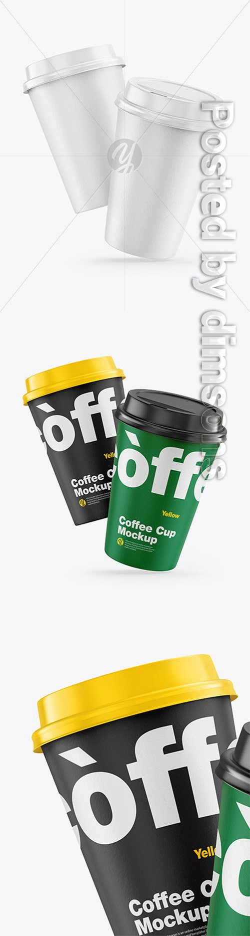 Paper Coffee Cups Mockup 66137 TIF