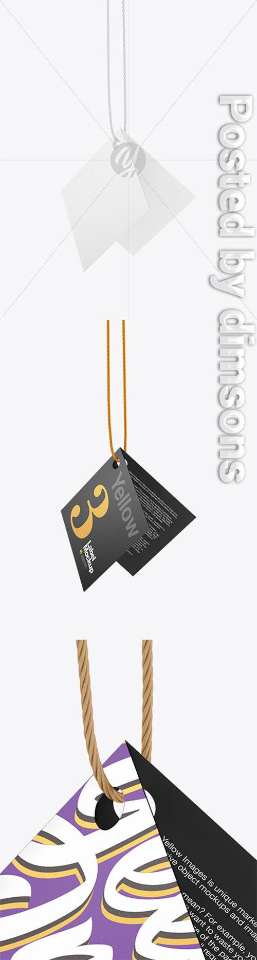 Hanging Textured Label Mockup 66325 TIF