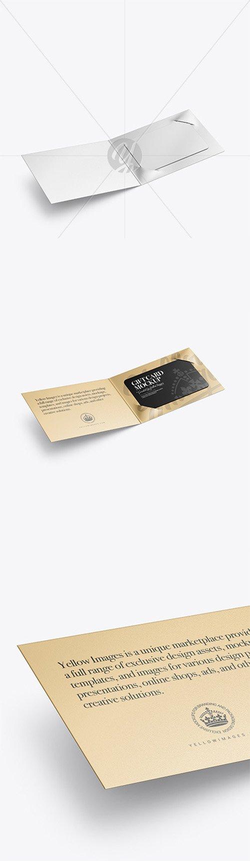Metallic Gift Card Mockup 64433 TIF