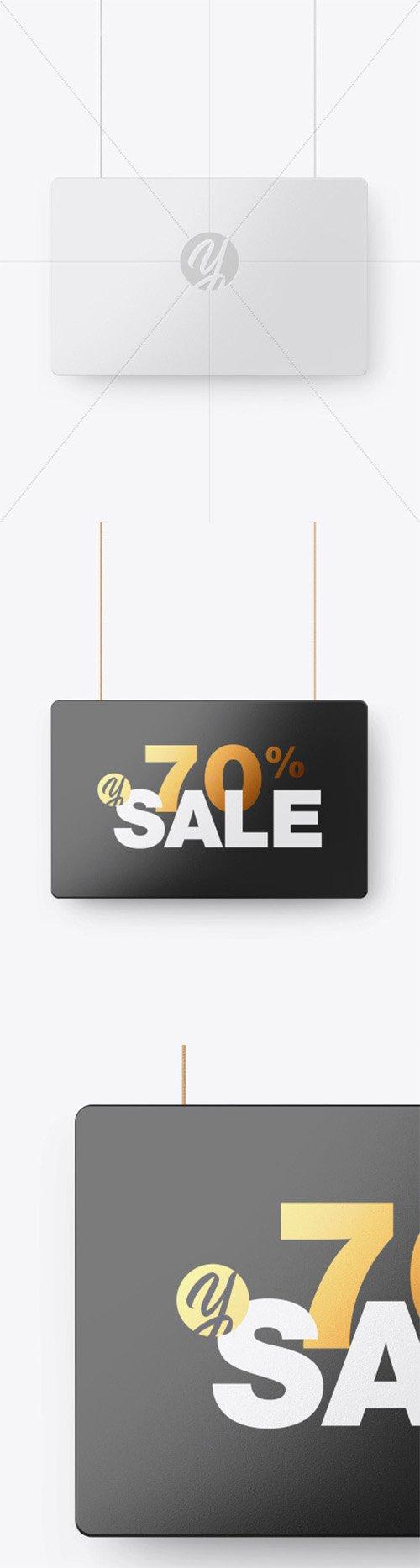 Glossy Discount Sign Mockup 56166 TIF