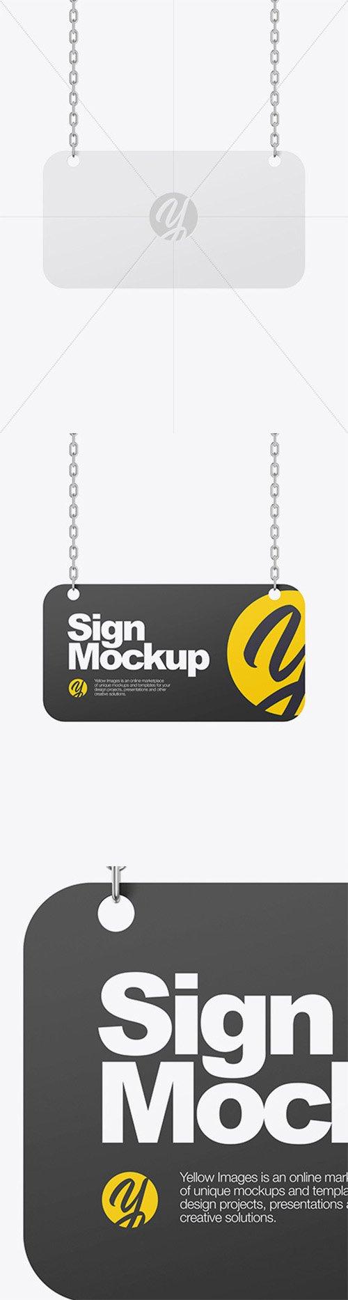 Sign w/ Chain Mockup 59512 TIF