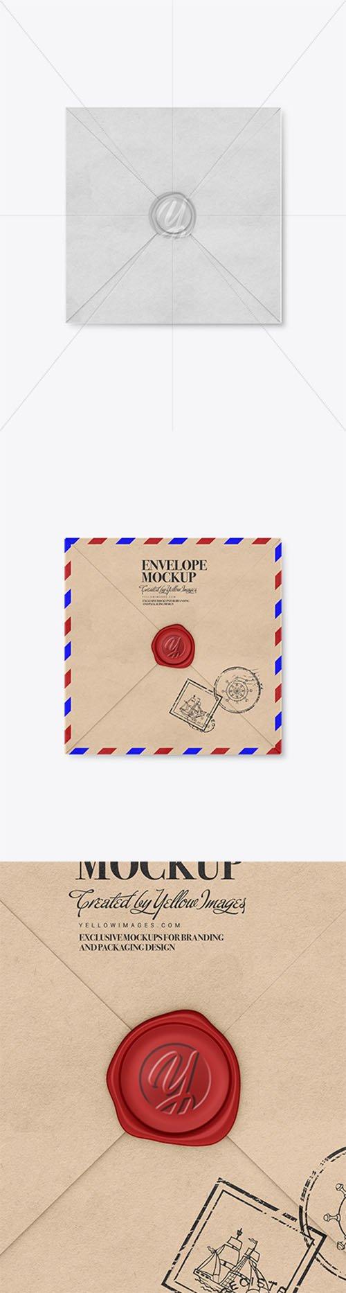 Kraft Paper Envelope with Wax Mockup 37415 TIF