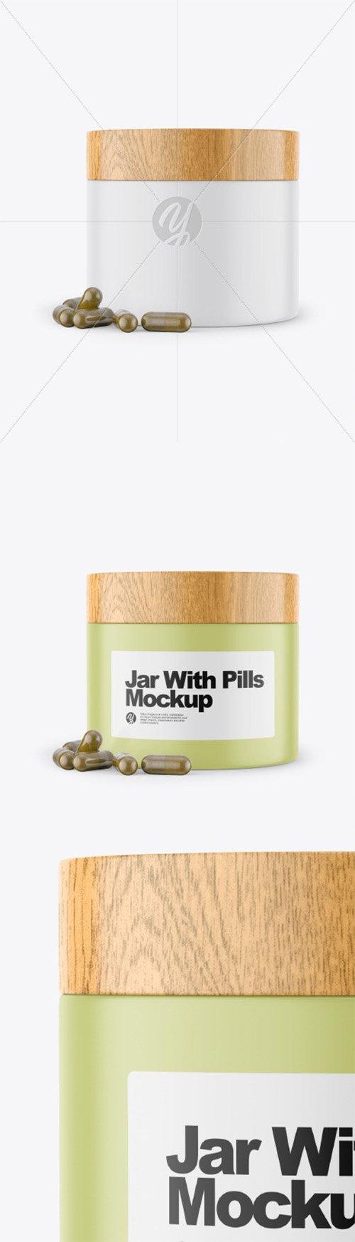 Jar With Pills Mockup 52274 TIF