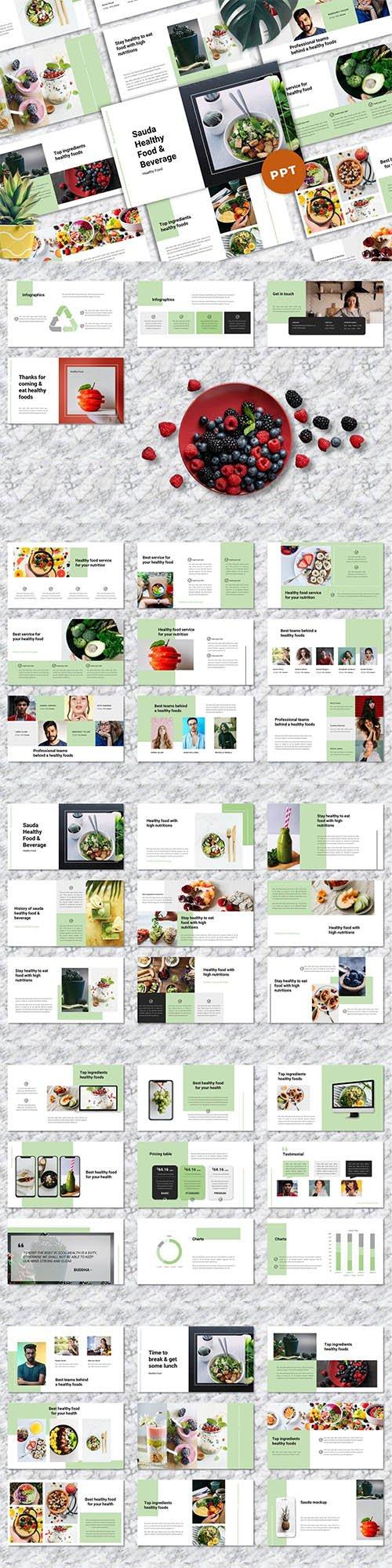 Sauda - Food & Beverages Powerpoint Templates