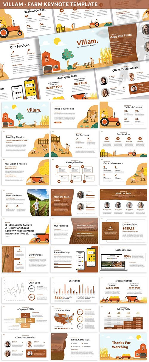 Villam - Farm Keynote Template